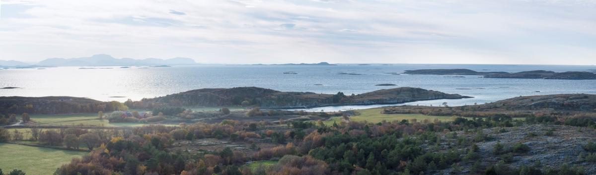 Utsikt mot Vågan Feriegård